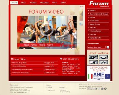 Palestra Forum Wellness Club - Sito Web Aziendale Dinamico