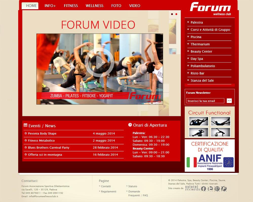 Palestra Forum Padova - Sito Web Aziendale Dinamico