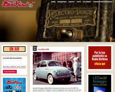Radio Birikina - Sito Web Aziendale Dinamico