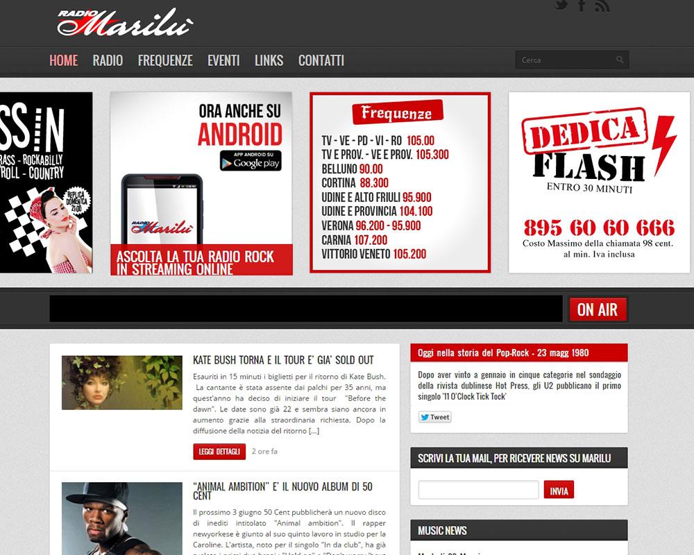 Radio Marilu - Sito Web Aziendale Dinamico