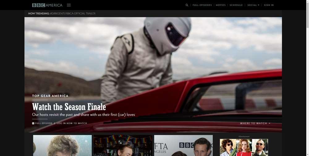 BBC America creato con WordPress