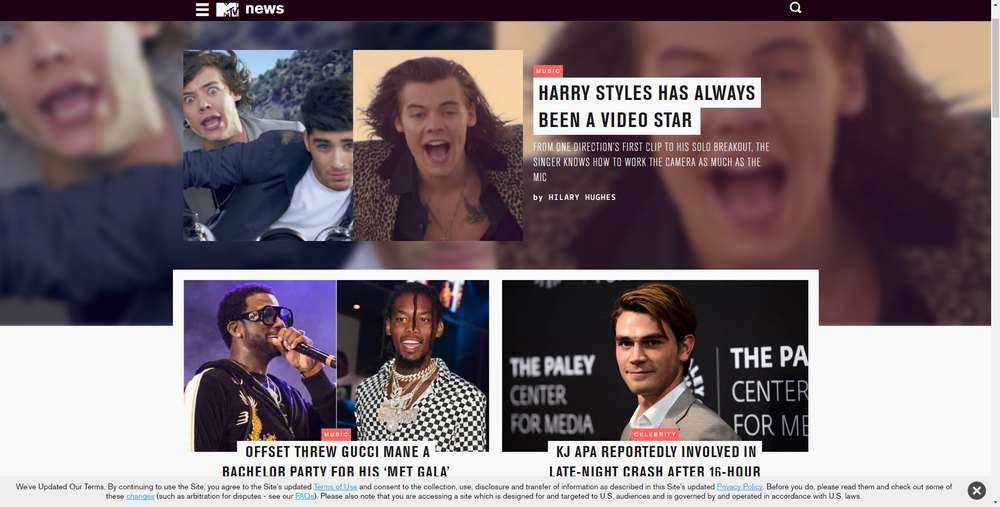 MTV News creato con WordPress