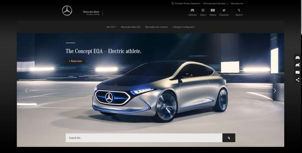 Mercedes-Benz creato con WordPress