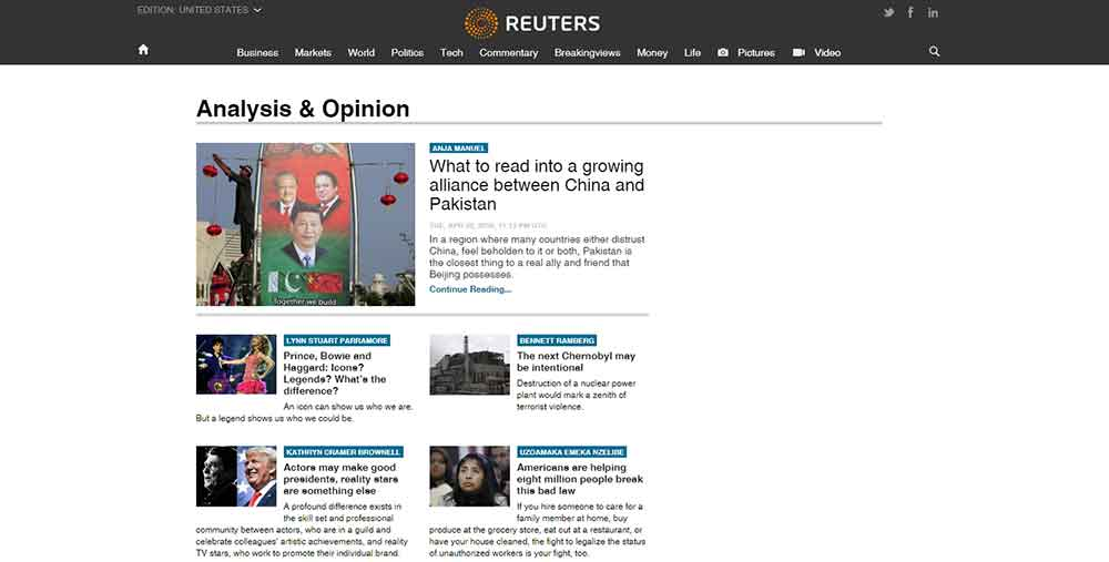 Reuters Blog creato con WordPress