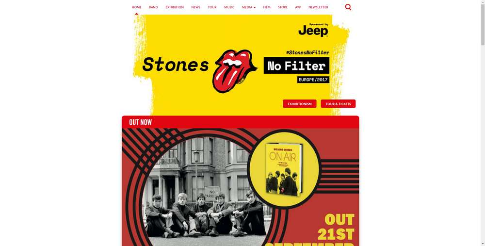 The Rolling Stones creato con WordPress