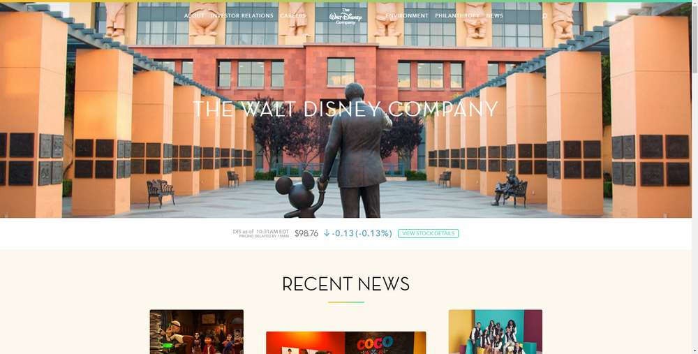 The Walt Disney Company creato con WordPress