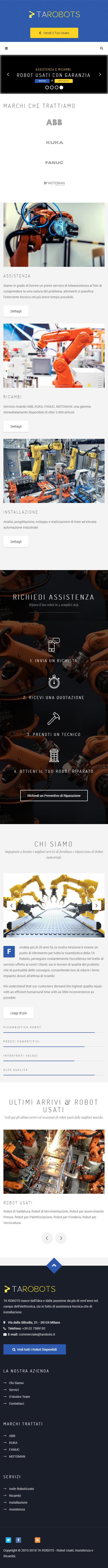 Siti Web Aziendale Vendita Macchinari Usati e Ricambi
