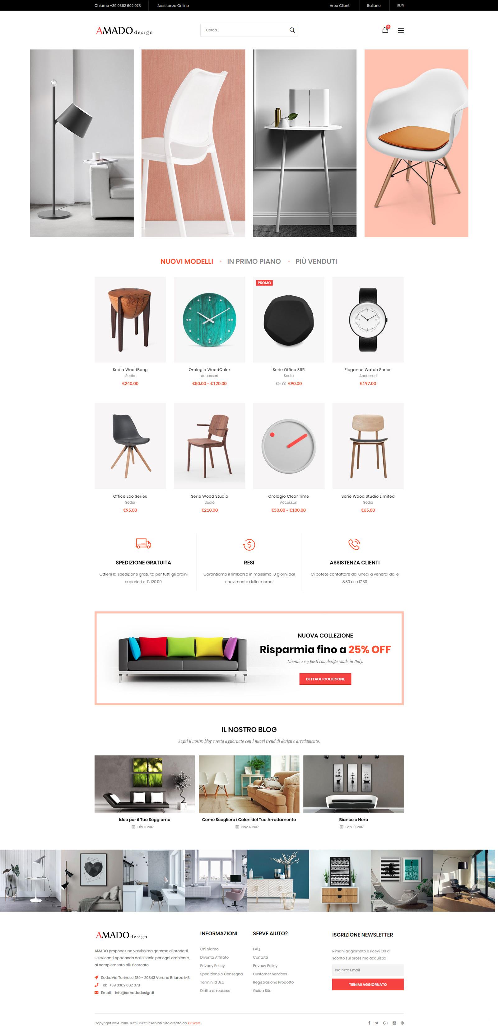 Sito Web eCommerce per Negozio di Arredamento