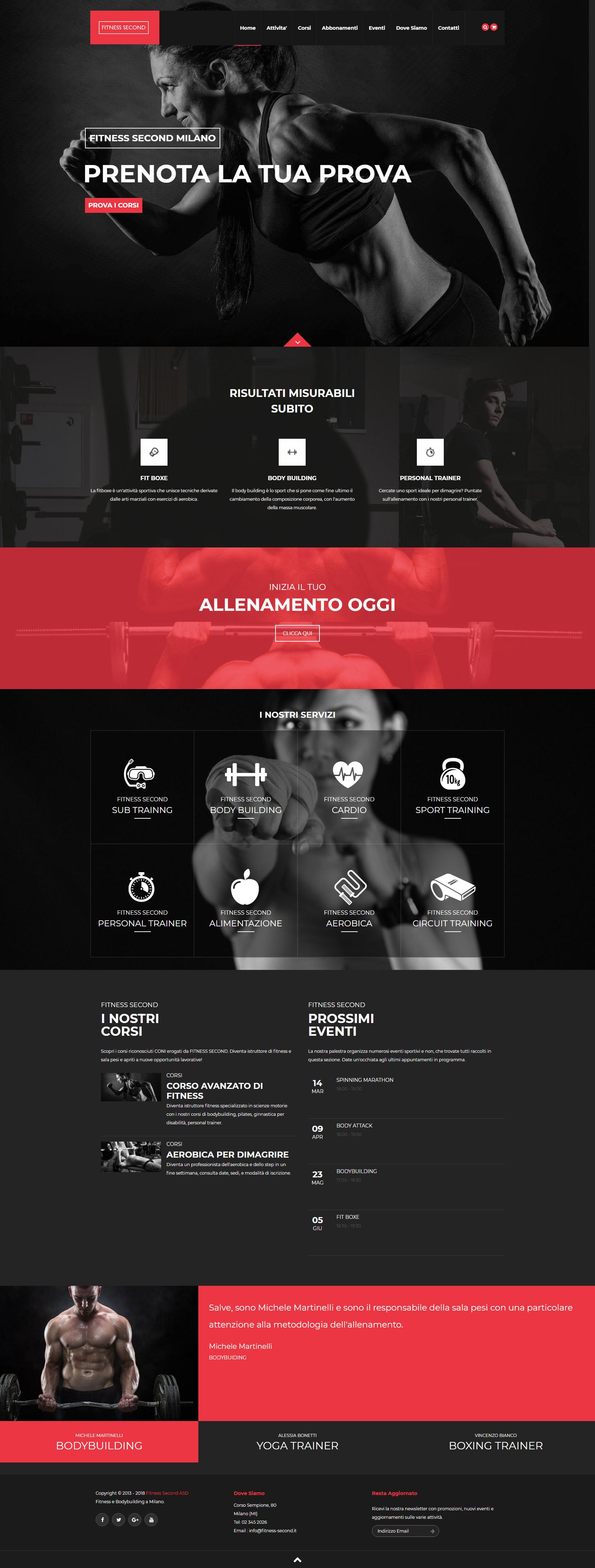 Realizzazione Sito Web per Palestra e Fitness Club