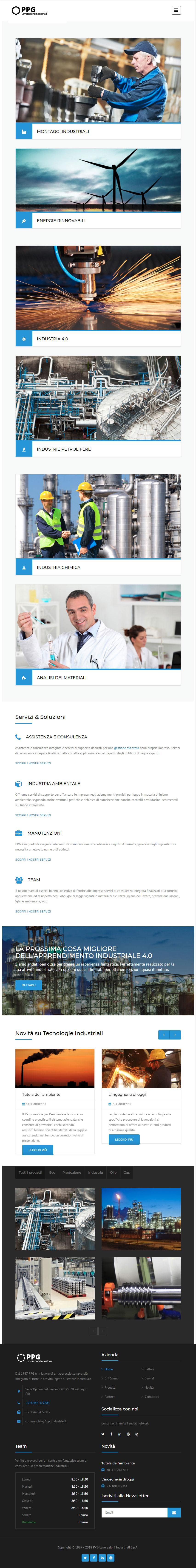 Siti Web Aziendali per Carpenterie e Lavorazioni Industriali